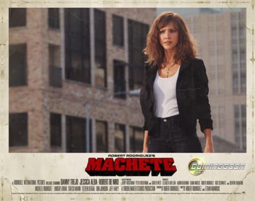 Machete Lobby Card- Jessica Alba