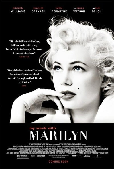Michelle Williams in My Week with Marilyn Poster