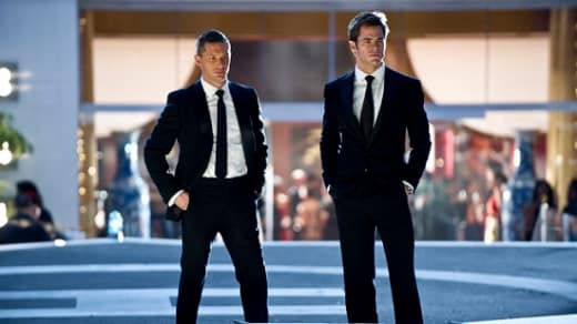 Chris Pine and Tom Hardy in This Means War