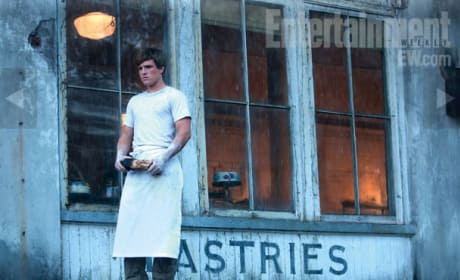 Peeta Outside the Bakery