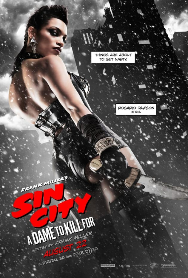 Sin City A Dame to Kill For Rosario Dawson Character Poster
