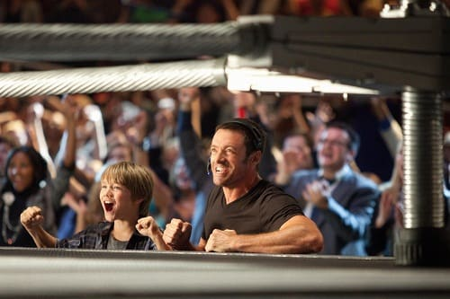 Hugh Jackman and Dakota Goyo in Real Steel