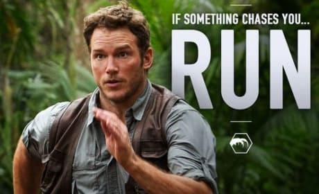 Jurassic World Chris Pratt Running Photo