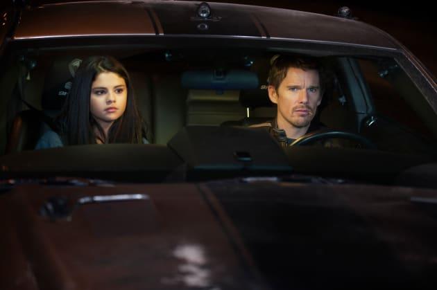 Getaway Ethan Hawke and Selena Gomez