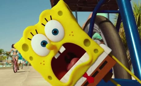 The SpongeBob Movie Sponge Out of Water Clip: SpongeBob's Chaotic Bike Ride!