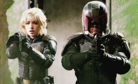 Dredd Images: Karl Urban and Olivia Thirlby Armed