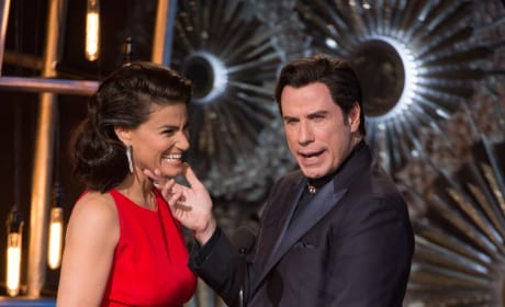 Oscar Photos Highlight Hollywood's Biggest Night: What Is John Travolta Doing?