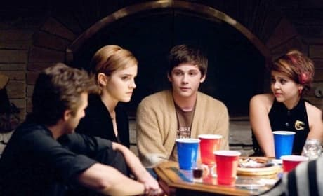 Emma Watson, Logan Lerman and Mae Whitman in Perks of Being a Wallflower