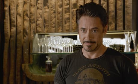 Robert Downey is Tony Stark in The Avengers