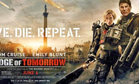 Edge of Tomorrow Emily Blunt Tom Cruise Banner