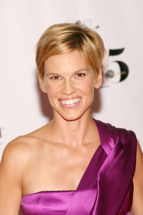 Hilary Swank with Short Hair