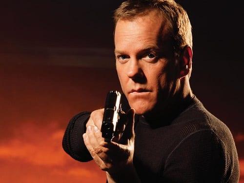 Kiefer Sutherland is Jack Bauer in 24