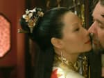 Lucy Liu and Russell Crowe The Man with the Iron Fists