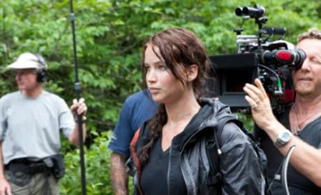 Jennifer Lawrence on the Set of The Hunger Games