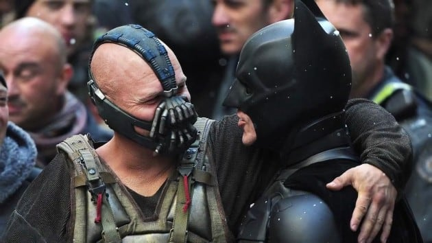 The Dark Knight Rises Bane Batman Set Photo