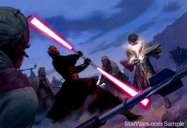Darth Maul Wields His Weapon