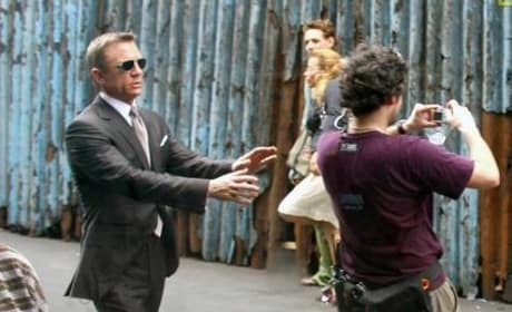 Daniel Craig on Set