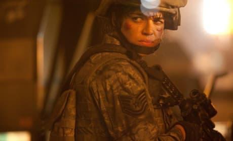 Michelle Rodriguez in Battle: Los Angeles