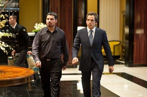 Michael Pena and Ben Stiller in Tower Heist