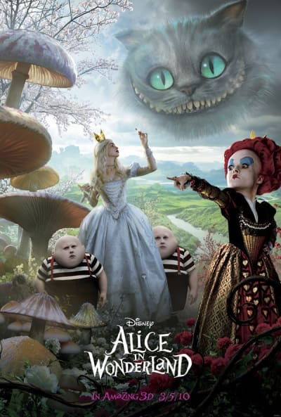 Creepy Alice in Wonderland poster