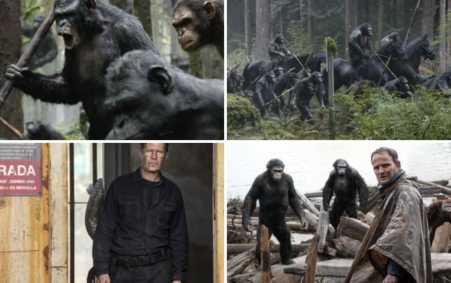 Dawn of the planet of the apes apes in action