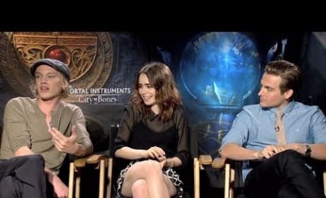 The Mortal Instruments City of Bones Exclusive: Lily Collins and Jamie Campbell Bower Interview