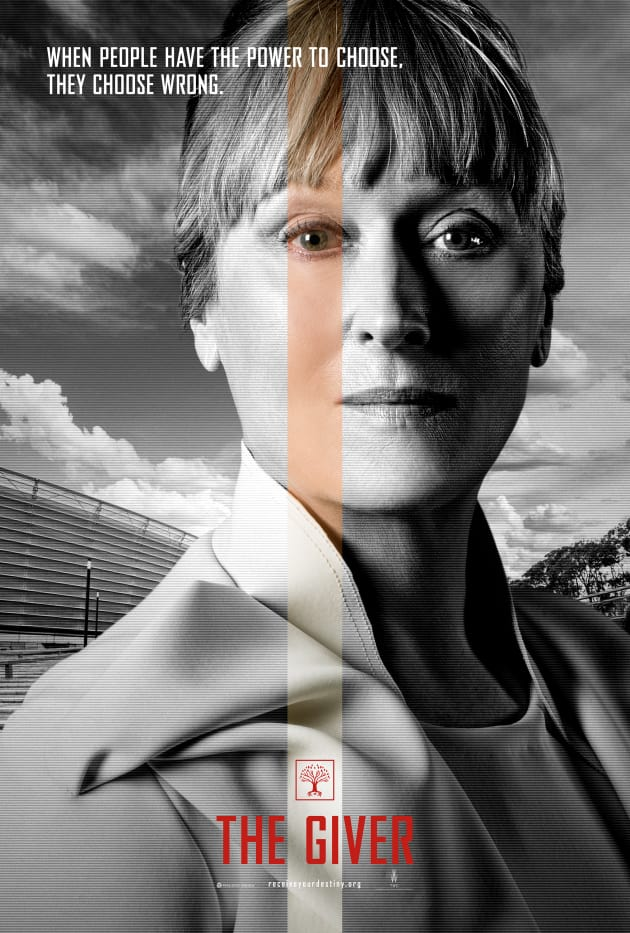 The Giver Meryl Streep Character Poster