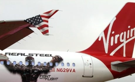 Real Steel Virgin America Plane