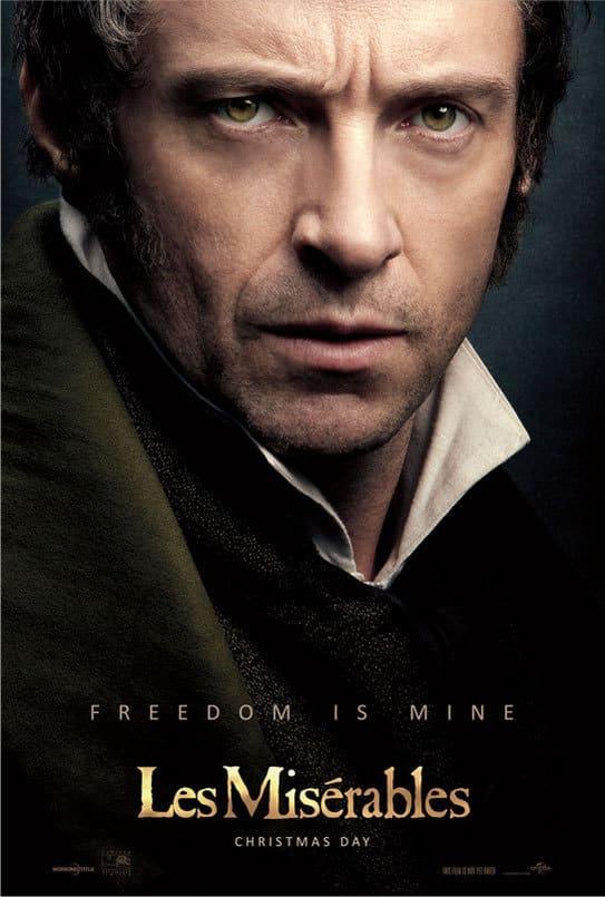 Les Miserables Hugh Jackman Poster