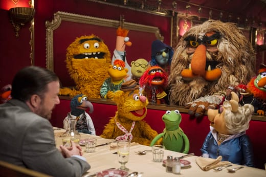 Muppets Most Wanted Ricky Gervais