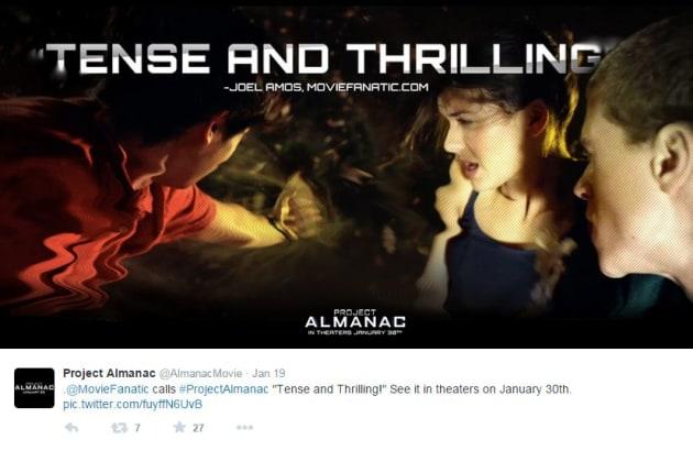 Project Almanac Movie Fanatic Ad