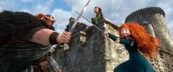 Billy Connolly and Kelly Macdonald in Brave