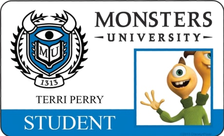Terri Perry Monsters University Student ID