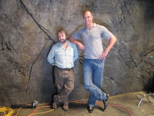 Peter Jackson On Set With Conan Stevens