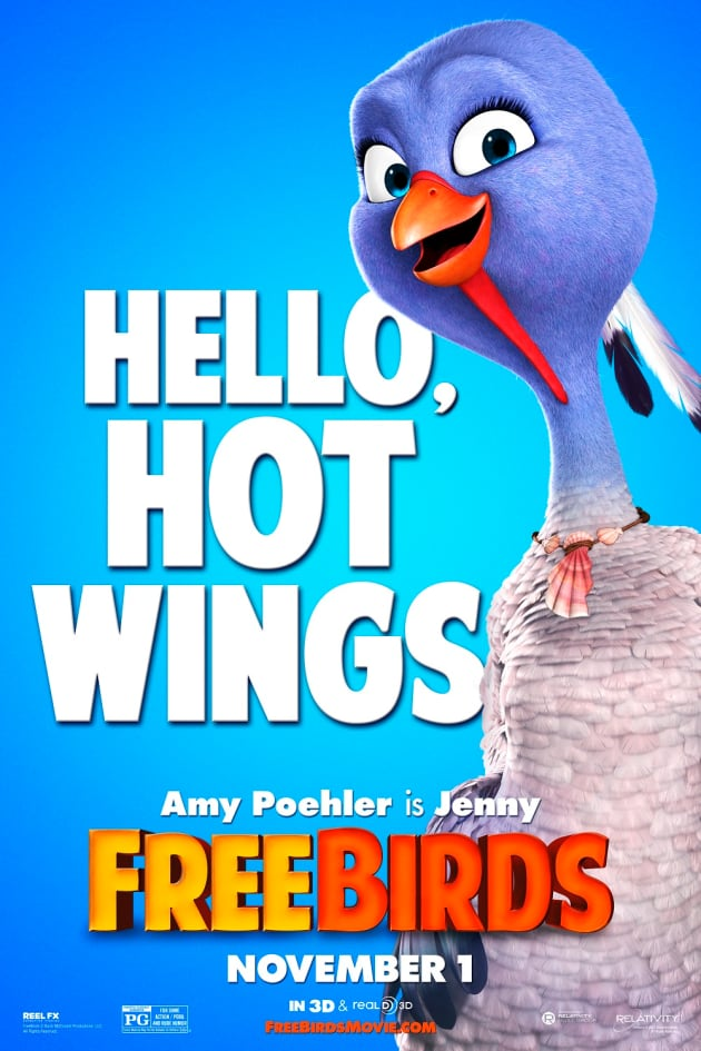 Free Birds Hot Wings Character Posters
