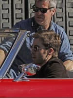 Chris Pine on Set