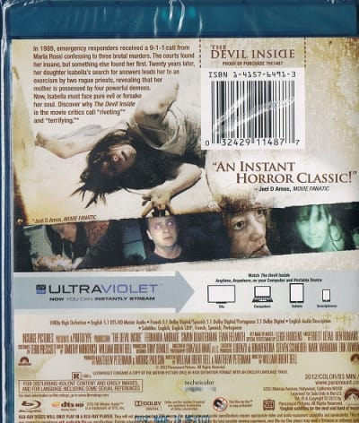 Movie Fanatic on The Devil Inside Blu-Ray