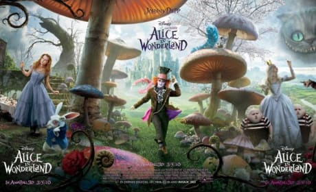 Alice in Wonderland Triple poster