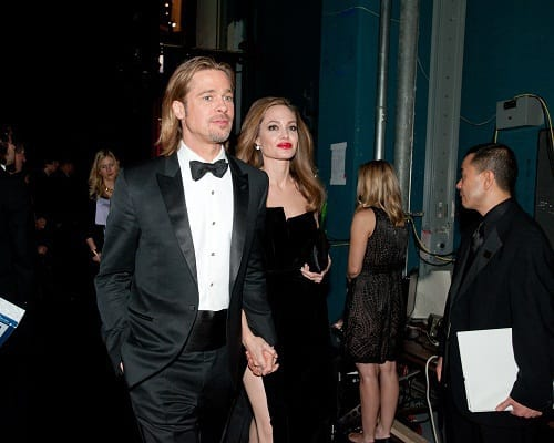 Brad PItt and Angelina Jolie Backstage at the Oscars