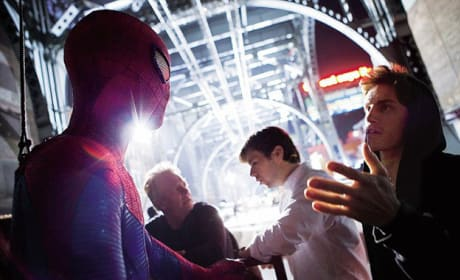 The Amazing Spider-Man Behind The Scenes Photo: Chat