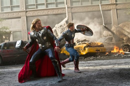 Chris Evans and Chris Hemsworth Star in The Avengers