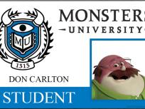 Don Carlton Monsters University Student ID