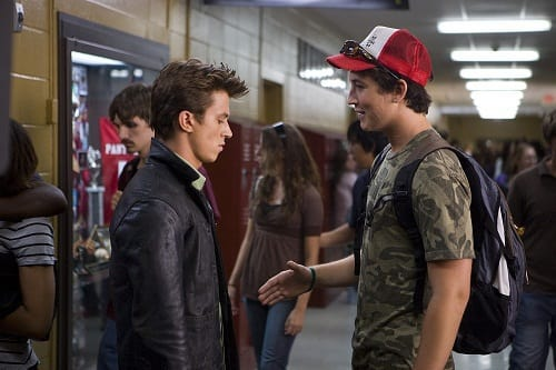 Miles Teller and Kenny Wormald in Footloose