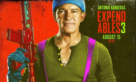 The Expendables 3 Antonio Banderas Comic Con Poster