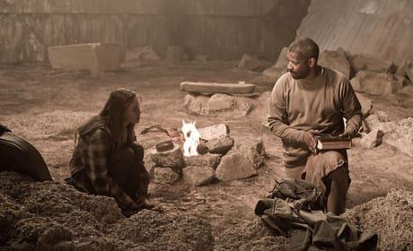 Eli and Solara Talk by the Fire