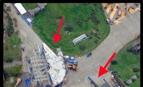 Star Wars Episode VII Set Photo Millennium Falcon