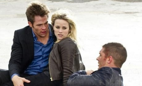 Chris Pine, Tom Hardy and Reese Witherspoon in This Means War
