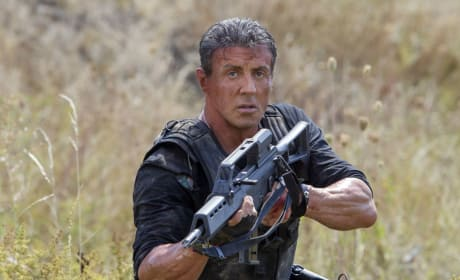 The Expendables 3: Mel Gibson & Sylvester Stallone Talk Going At It!