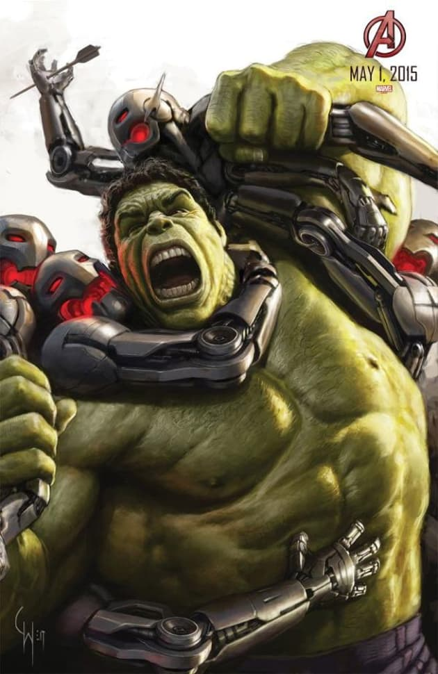 Avengers Age of Ultron The Hulk Concept Art Poster