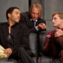 Lenny Kravitz, Woody Harrelson and Josh Hutcherson in The Hunger Games